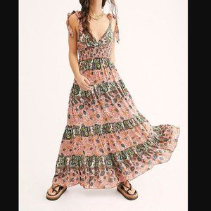 Free People Let's Smock About It Floral Maxi NWT